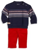 Ralph Lauren Baby's Two-Piece Fair Isle Sweatshirt & Corduroy Pants Set