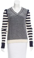 Tory Burch V-Neck Knit Sweater