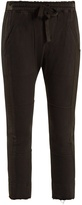 Haider Ackermann Drawstring-waist cotton cropped trousers