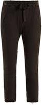 Haider Ackermann Drawstring-waist cotton cropped trousers