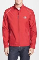 Cutter & Buck Men's Big & Tall San Francisco 49Ers - Beacon Weathertec Wind & Water Resistant Jacket