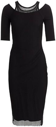 Bailey 44 Koening Mesh-Detailed Dress
