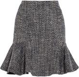 Iris & Ink Fluted bouclé-tweed skirt