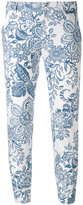 Fay printed trousers - women - Cotton - 40
