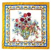 Dolce & Gabbana Printed Silk Twill Scarf.