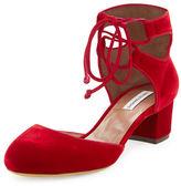 Tabitha Simmons Imogen Velvet Ankle-Cuff Pump