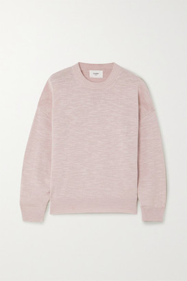 Bassike Linen And Cotton-blend Sweater - Pink