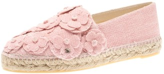 Chanel Pink Cloth Flats