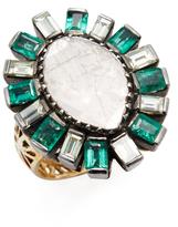 Amrapali 14K Yellow Gold, Emerald & 2.10 Total Ct. Diamond Ring