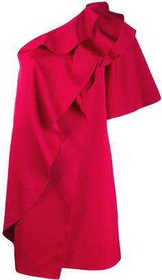 Paule Ka ruffled one-shoulder dress