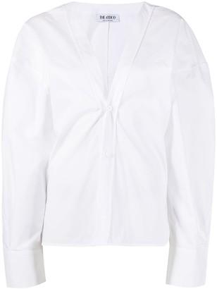 ATTICO oversized V-neck cotton shirt