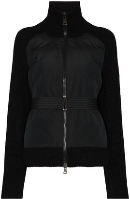 Moncler Shell Panelled Cardigan