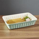 Crate & Barrel Kitchenette Pistachio Green Baking Dish