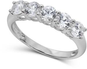 Arabella Swarovski Cubic Zirconia Ring in 14k White Gold