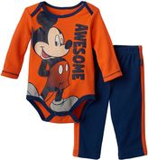 Disney Disney's Mickey Mouse Baby Boy Bodysuit & Pants Set