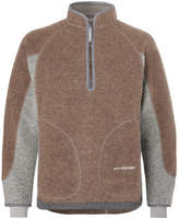 And Wander - Wool-blend Fleece Half-zip Sweater - Brown