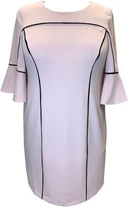 Sandra Darren Piped Ruffle Cuff Sheath Dress