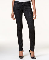 GUESS Embroidered Coated Jeggings