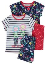 George 2 Pack Floral Pyjamas