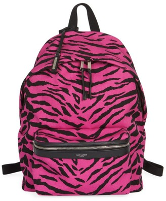 Saint Laurent Zebra Print Backpack