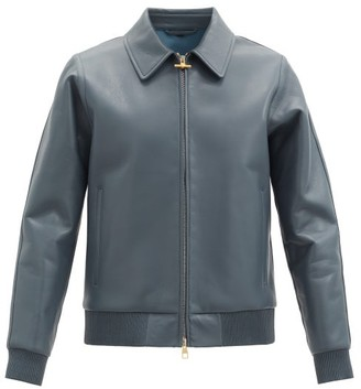 Dunhill Bonded Leather Jacket - Grey