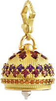 Paul Morelli 18k #4 Rhodolite, Amethyst, Spessartite Meditation Bell Pendant