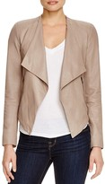BB Dakota Siena Draped Leather Jacket