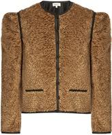 Isa Arfen Embossed-velvet jacket