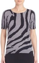 Escada Printed Wool Blend Top
