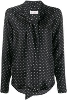 Alberto Biani polka-dot print blouse