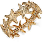 Charter Club Gold-Tone Starfish Stretch Bracelet, Created for Macy's