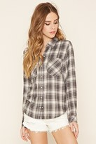 Forever 21 Snap-Button Plaid Shirt