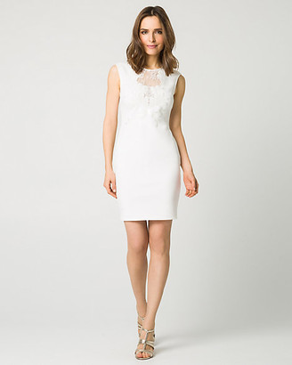 Le Château Embellished Scuba Illusion Cocktail Dress