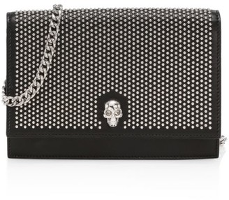 Alexander McQueen Small Skull Studded Leather Crossbody Bag