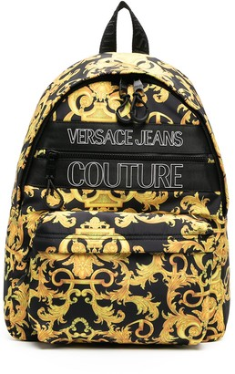 Versace Jeans Couture Baroque print backpack