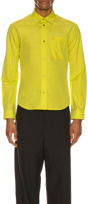 Balenciaga Fitted Shirt in Citrus Yellow | FWRD