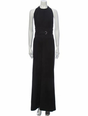 Hermes Vintage Long Dress Black