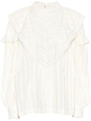 Etoile Isabel Marant Reign striped cotton blouse