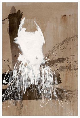 Jonathan Bass Studio White Dress 2, Decorative Framed Hand Embellished Canvas