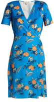 Diane von Furstenberg Silese floral-print short-sleeved silk wrap dress