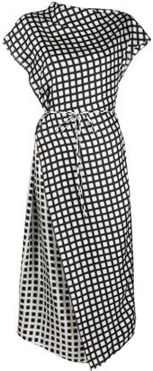 Theory Asymmetric Check Dress