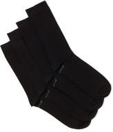 Holeproof Plain Cotton Nylon Socks Pack of 4