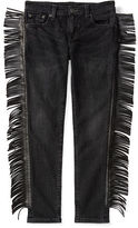 Ralph Lauren 7-16 Jemma Fringed Skinny Jean