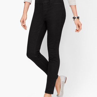 Talbots Sculpt Pull-On Denim Jeggings - Black