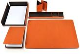 Giorgio Fedon Metal and Leather Desk Set