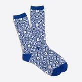 J.Crew Factory Snowflake winter-weight trouser socks