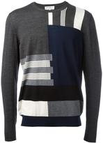 Salvatore Ferragamo patterned stripe jumper - men - Virgin Wool - M