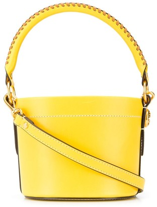 Tory Burch Miller stitch detail bucket bag