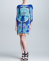 Versace Collection Three-Quarter Sleeve Printed Dress