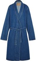 Balenciaga Belted Denim Coat - Indigo